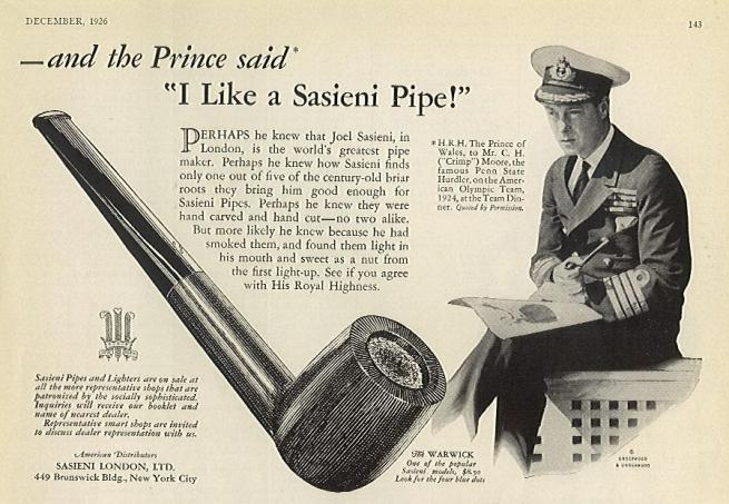 A Rare Ad From 1926.  Contributed by Anthony Goodman
